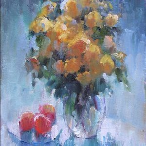 Yellow Roses 16x12 Oil on Canvas